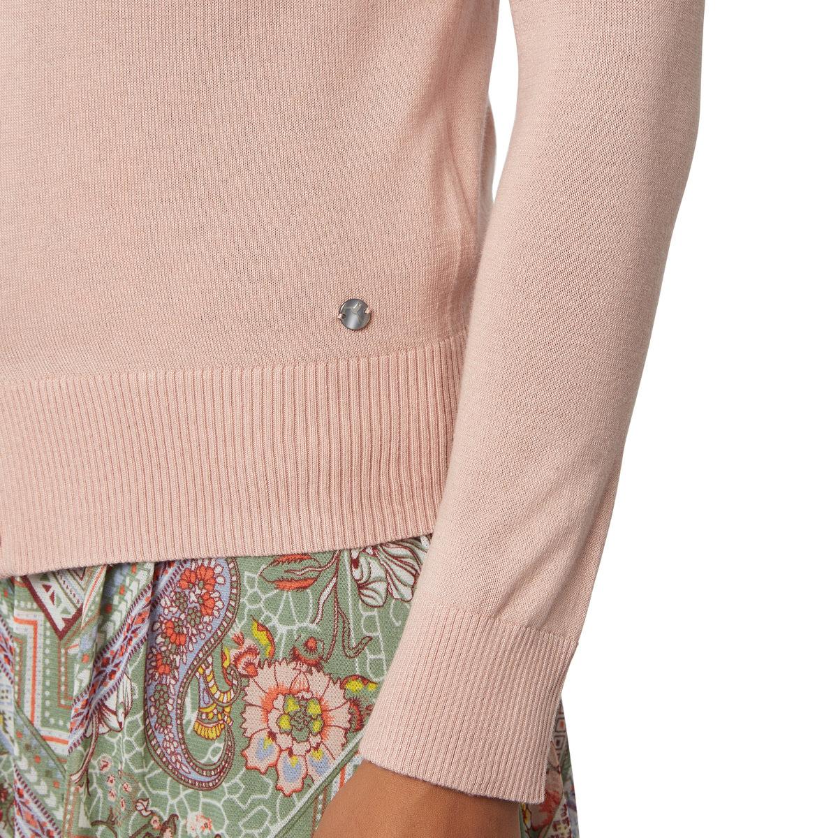 Strickjacke Suri mit Knopfleiste in rose parfait