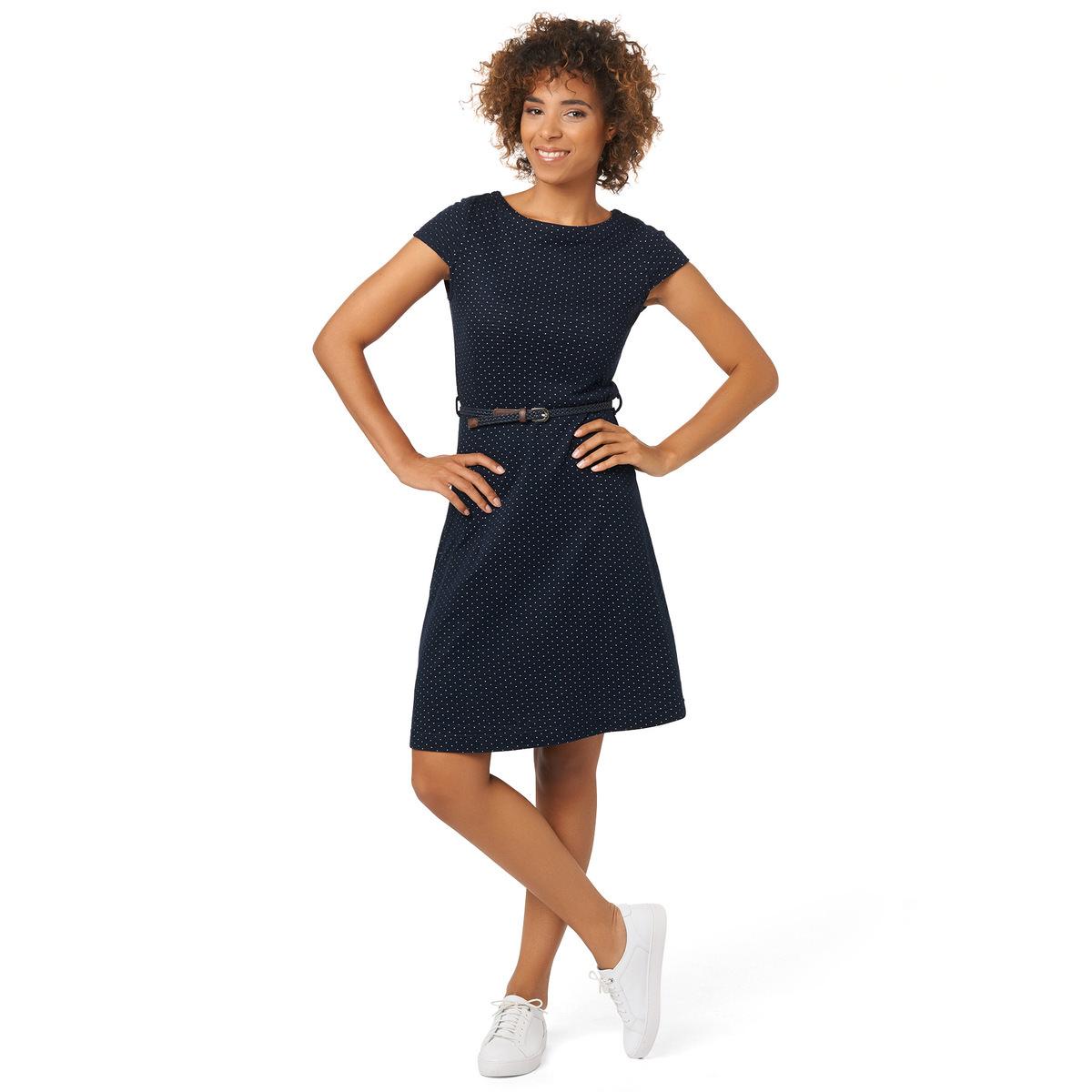 Kleid aus Double-Jersey in blueprint