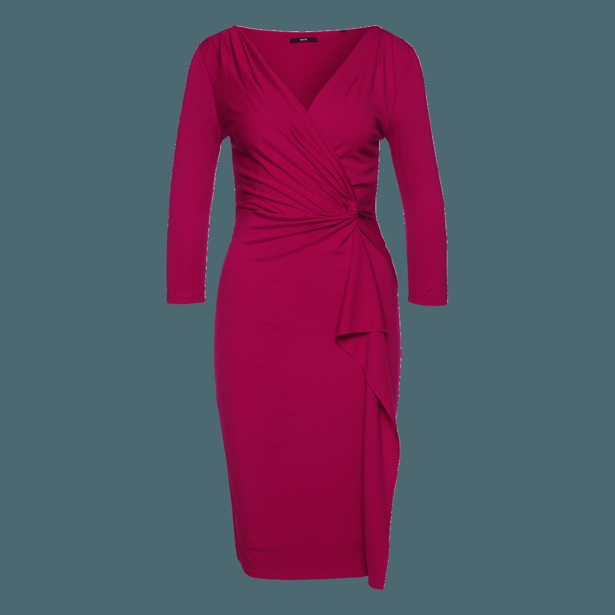 Jersey-Kleid mit formgebender Raffung in pink