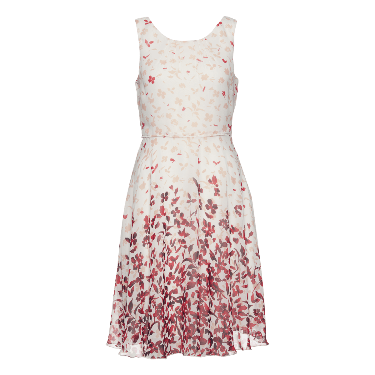 Kleid mit Borderprint in pink