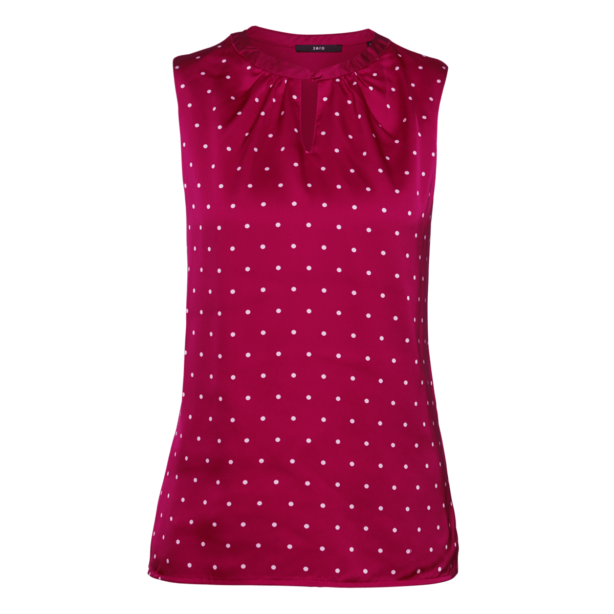 Top Amelie mit gepunkteter Front in pink