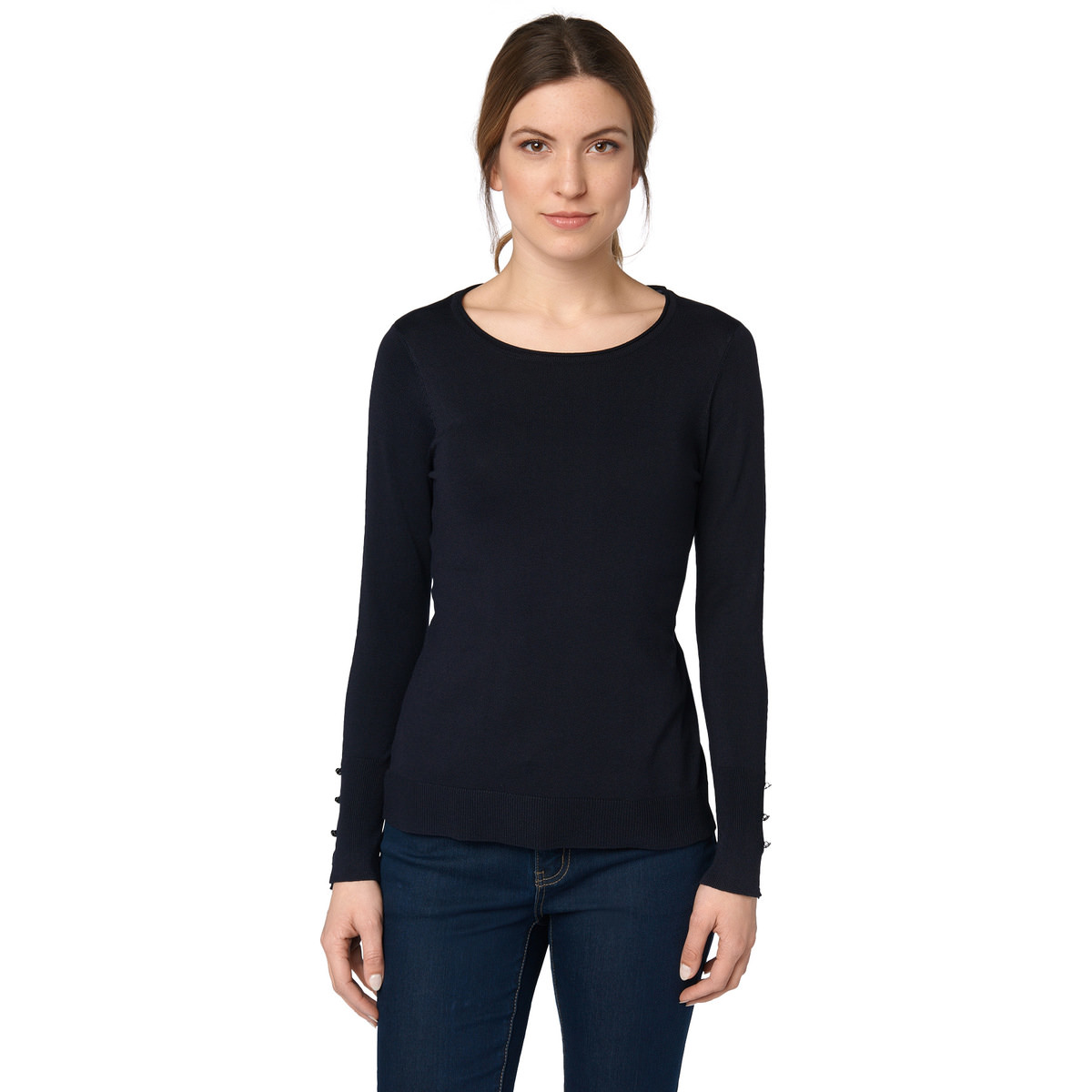 Pullover aus Feinstrick in blue black