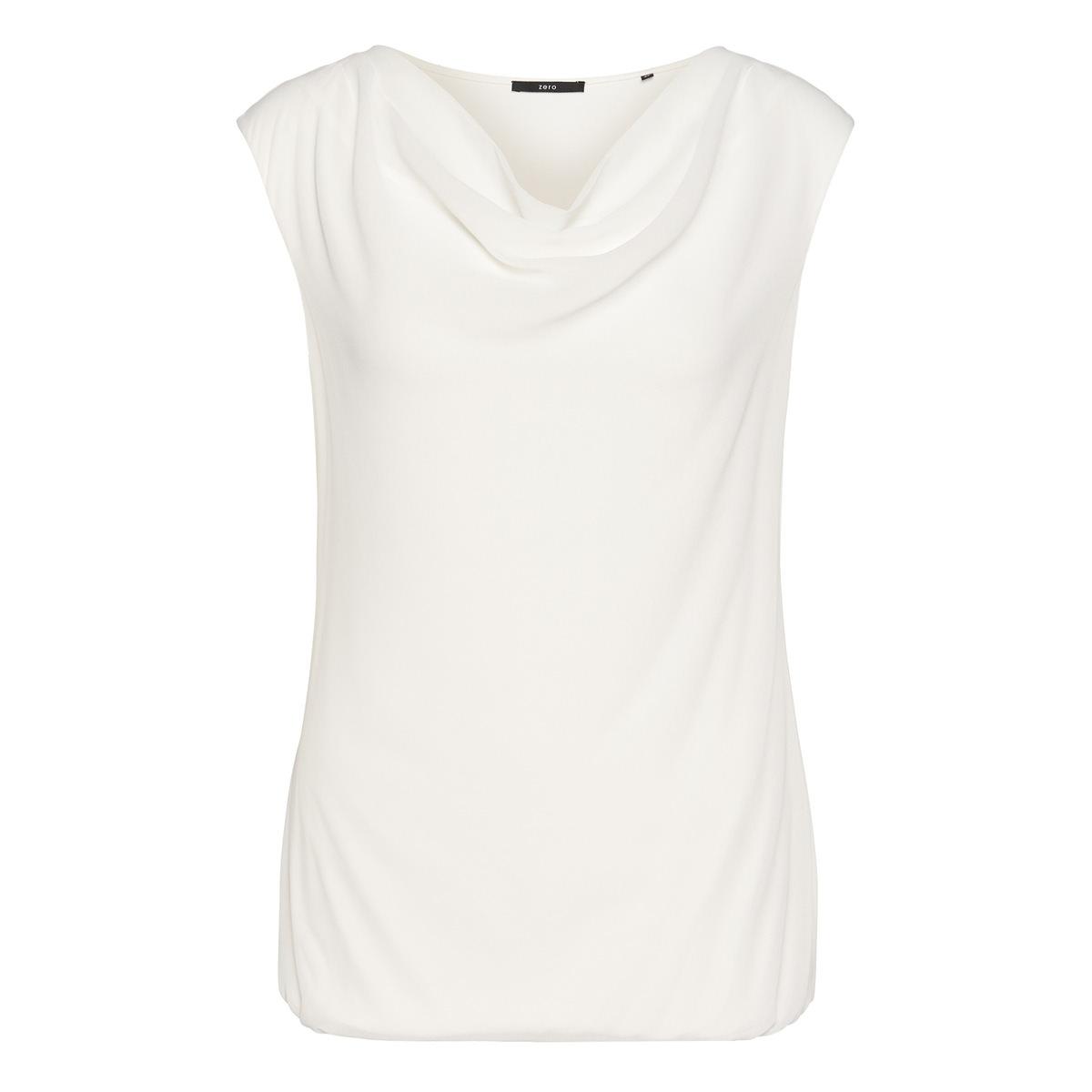 Blusenshirt mit Chiffon-Front in offwhite