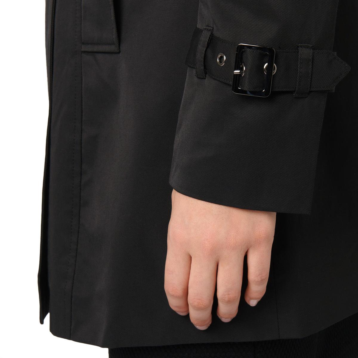 Trenchcoat mit Gürtel in black