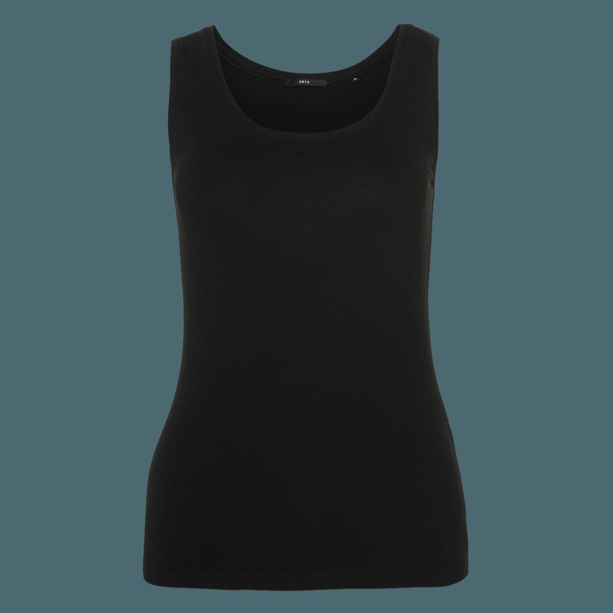 Top Tara mit Rundhalsausschnitt in black