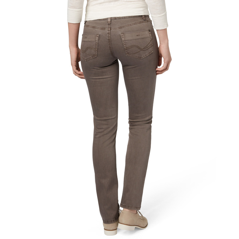 Slim-Fit-Jeans Seattle, 32 inch in light taupe