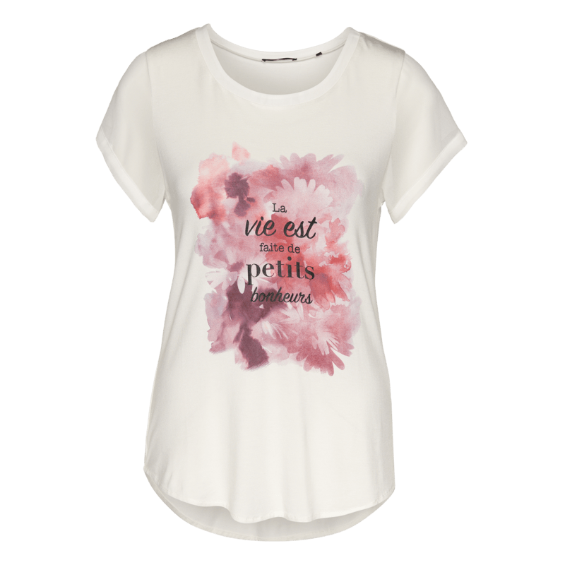 Viskose-Shirt mit romantischem Print in rose parfait