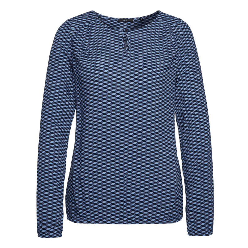 Bluse mit Graphic-Print in lily blue