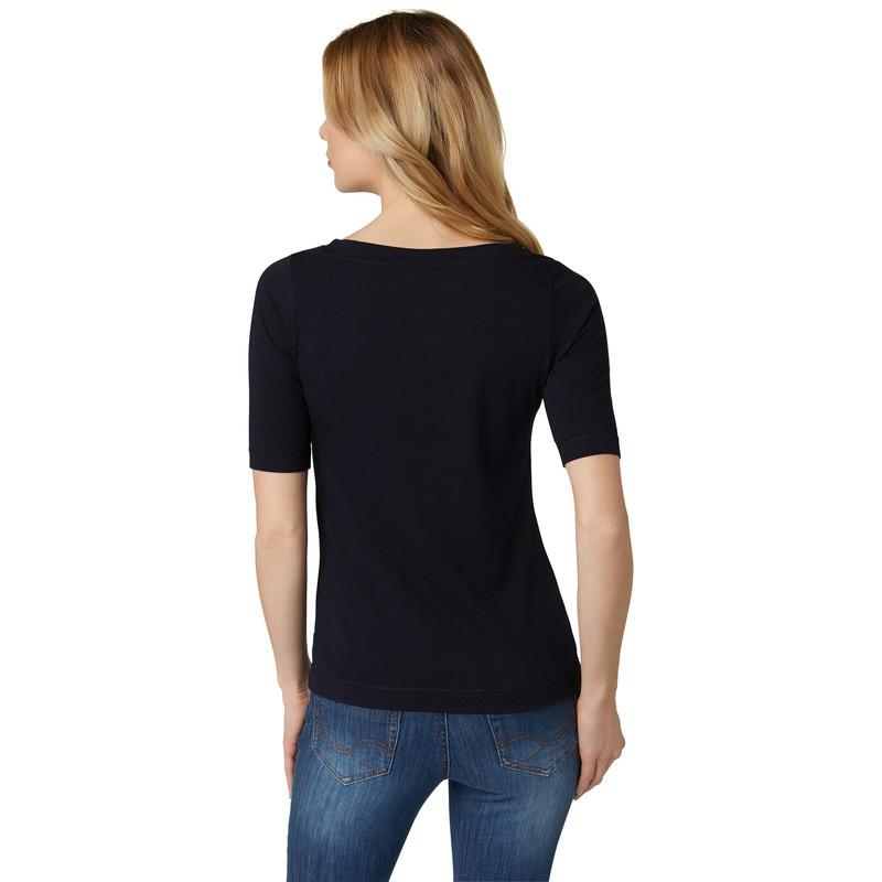 Shirt mit Pailletten-Applikationen in blue black