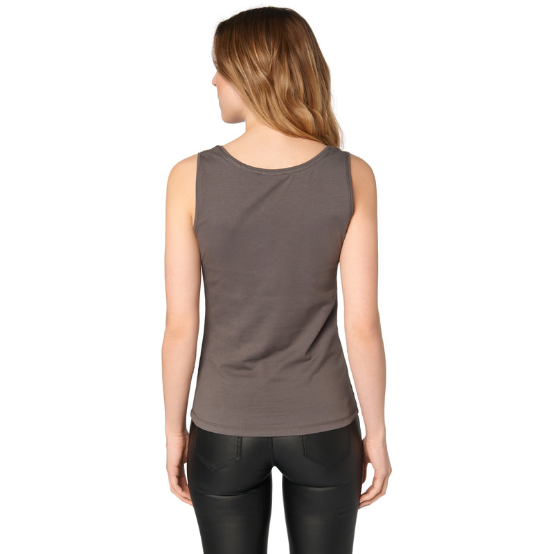 Top Tara im unifarbenen Design in iron grey