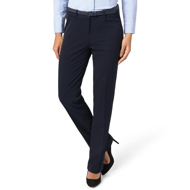 Hose mit Gürtel in Leder-Optik in blue black