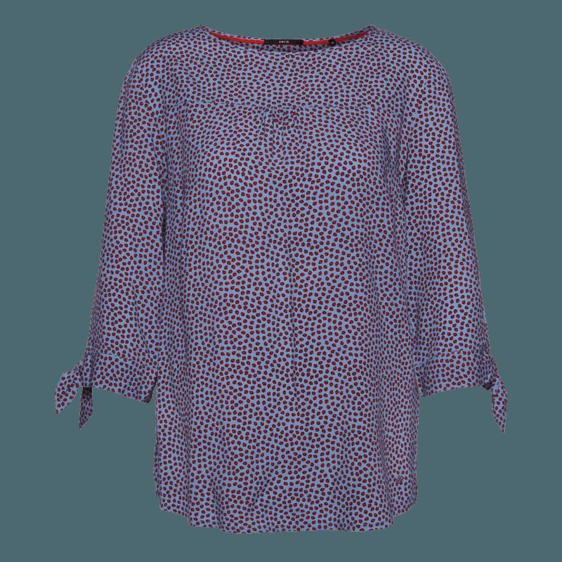 Bluse mit Marienkäfer-Print in lily blue