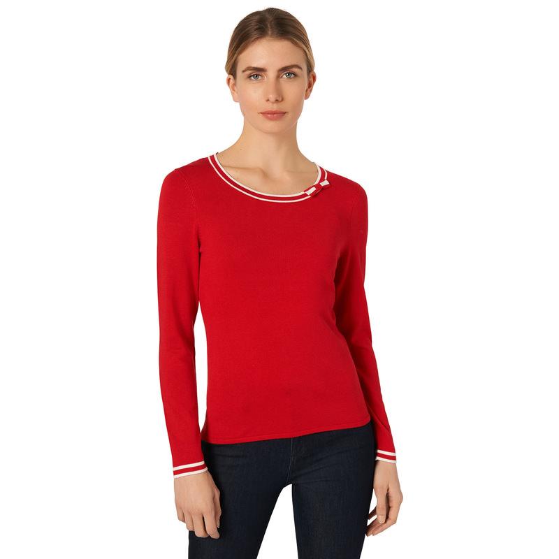 Pullover mit Schleife in red