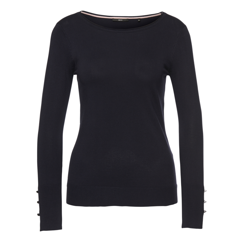 Pullover aus Feinstrick in blue black