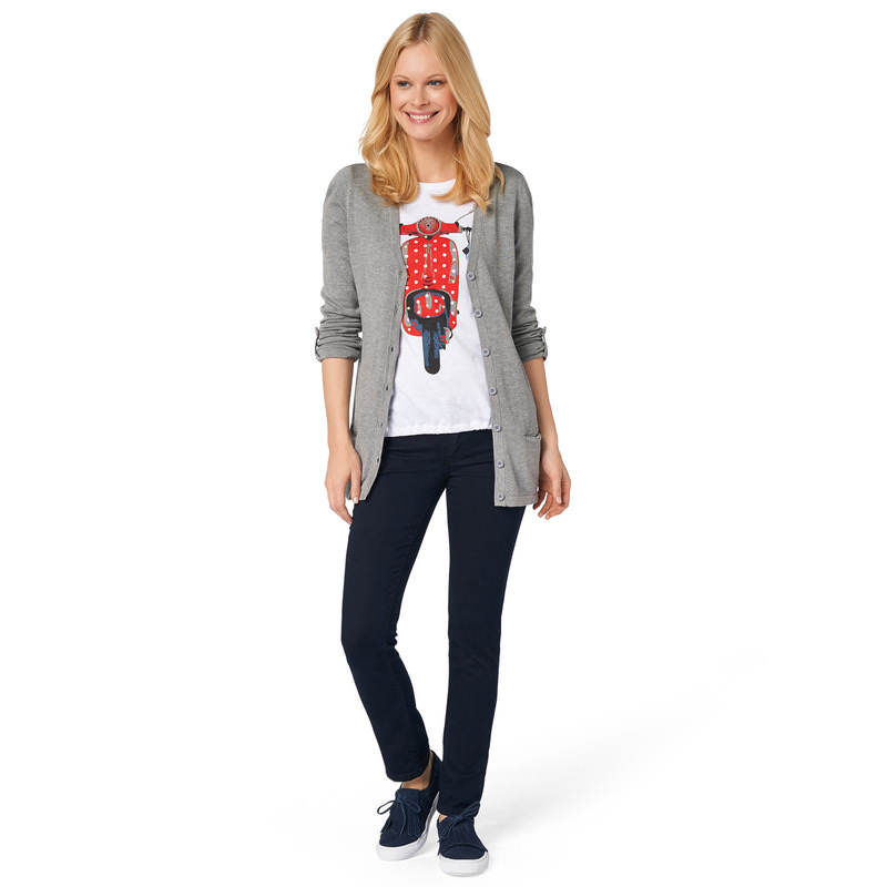Jersey-Shirt mit Vespa-Print in bright red