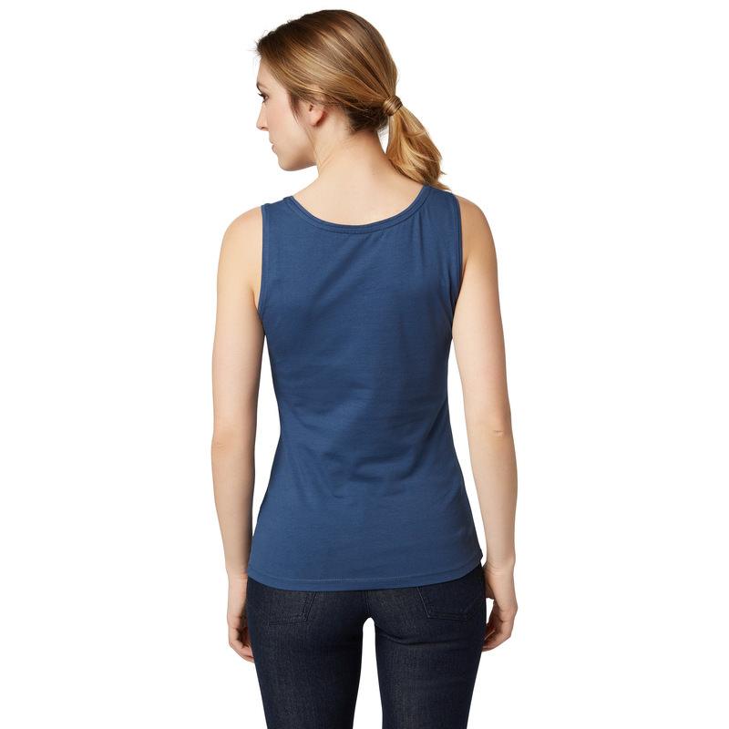 Top Tara im unifarbenen Design in blue shadow