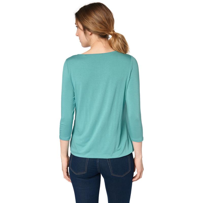 Shirt mit zartem Chiffon in light aqua