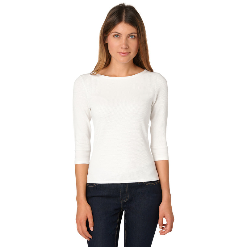 Pullover Sina mit 3/4-Arm in offwhite