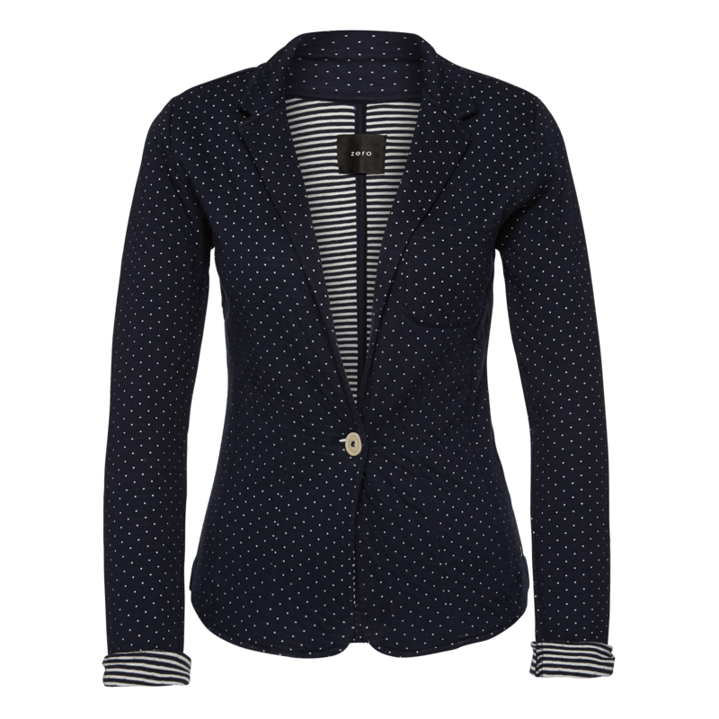 Blazer aus Jersey in blueprint
