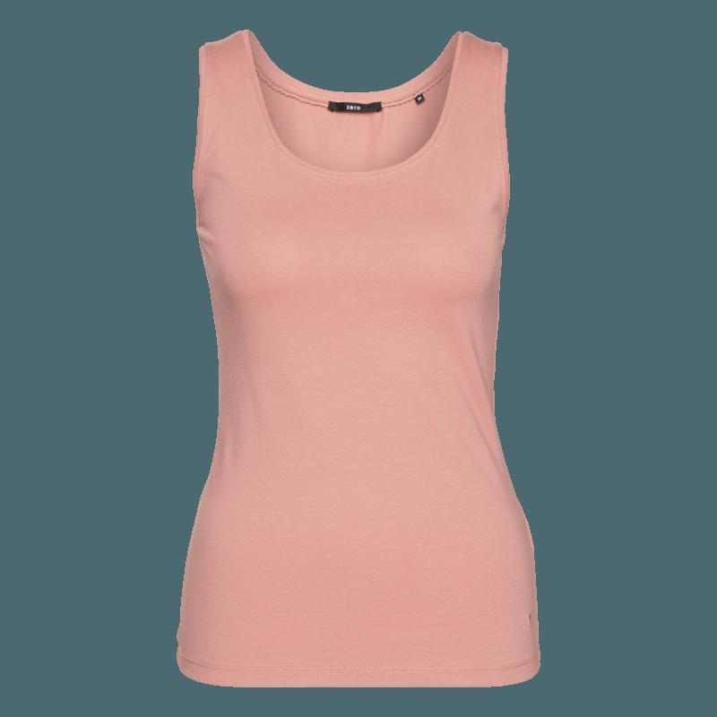 Top Tara im unifarbenen Design in salmon rose