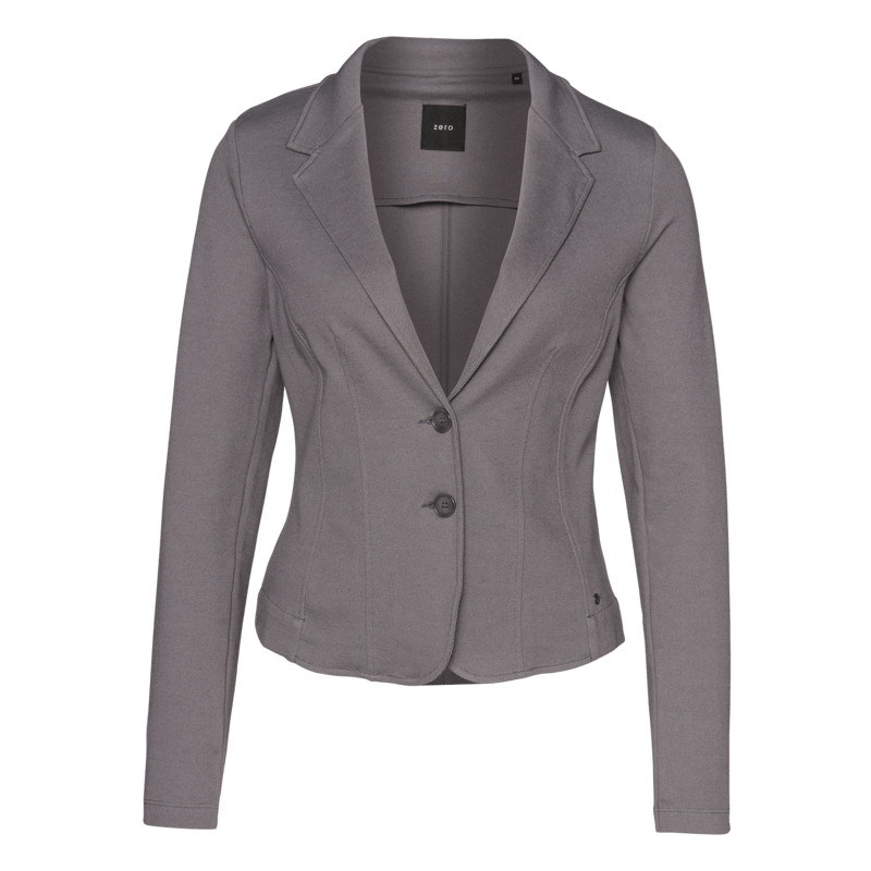 Fein gemusterter Casual-Blazer in iron grey-m