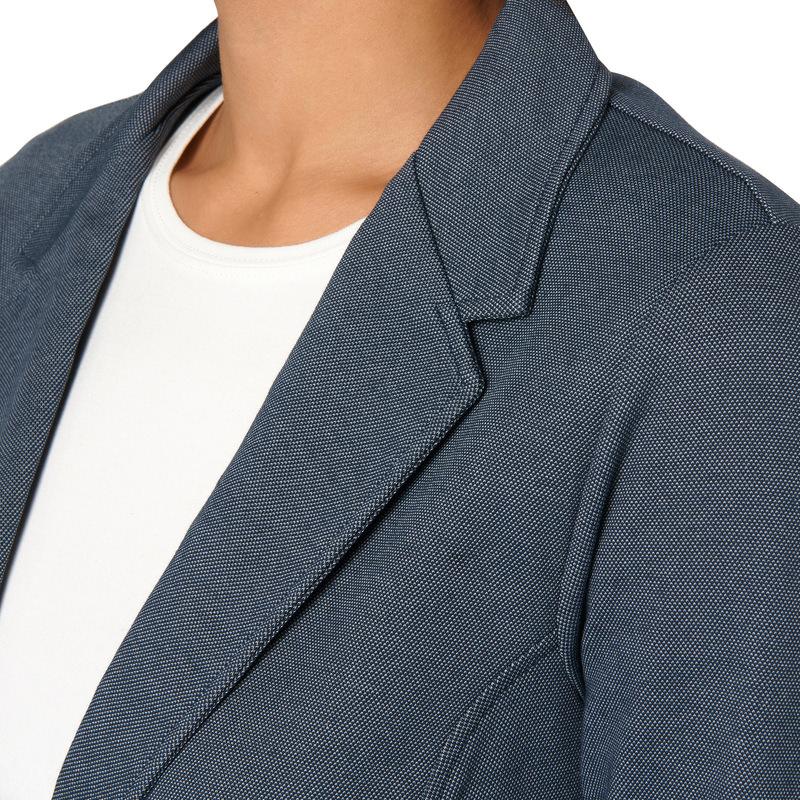 Fein gemusterter Casual-Blazer in blue black