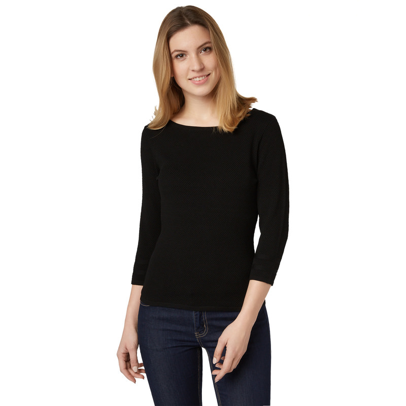 Pullover Sina mit 3/4-Arm in black