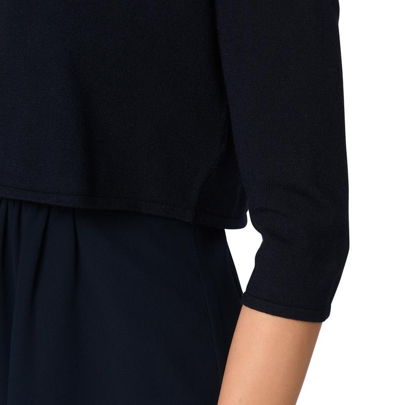 Bolero mit Hakenverschluss in blue black