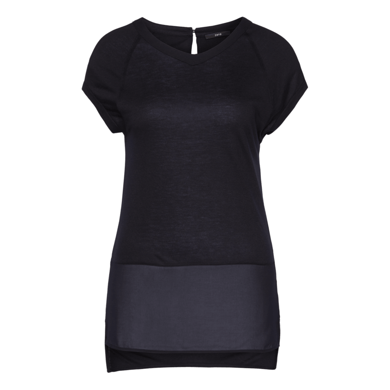 Shirt in modernem Struktur-Mix in blue black