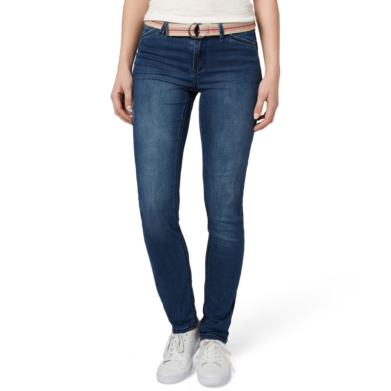 Loose-Fit Jeans Georgia Style, 32 inch in mid blue heavy washed