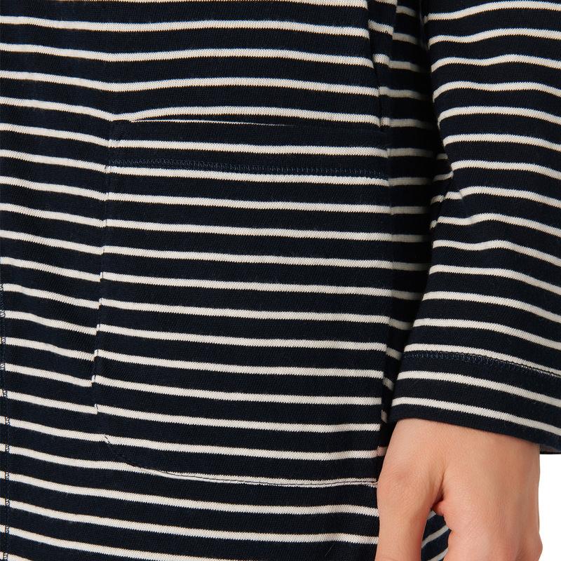 Jersey-Cardigan in langer Schnittform in blueprint