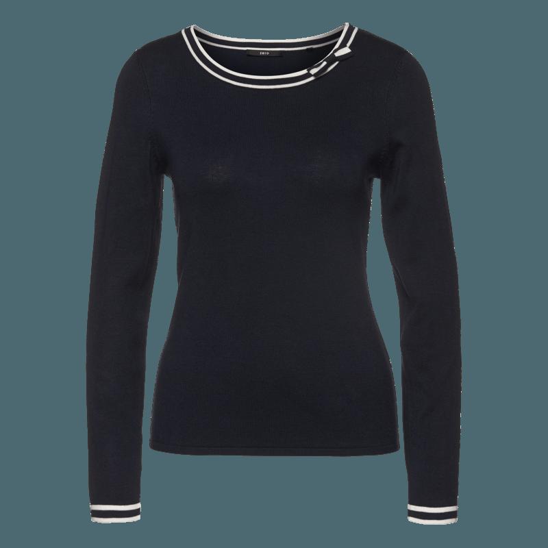 Pullover mit Schleife in blue black
