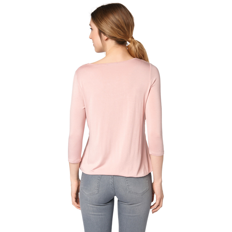 Shirt mit zartem Chiffon in rose parfait