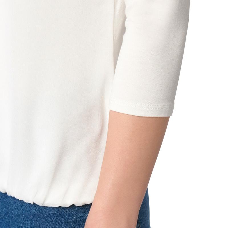Shirt mit zartem Chiffon in offwhite