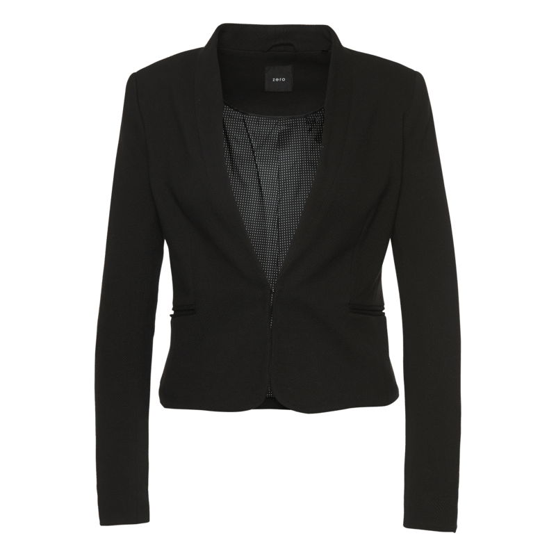 Blazer Beke in kurzer, taillierter Passform in black