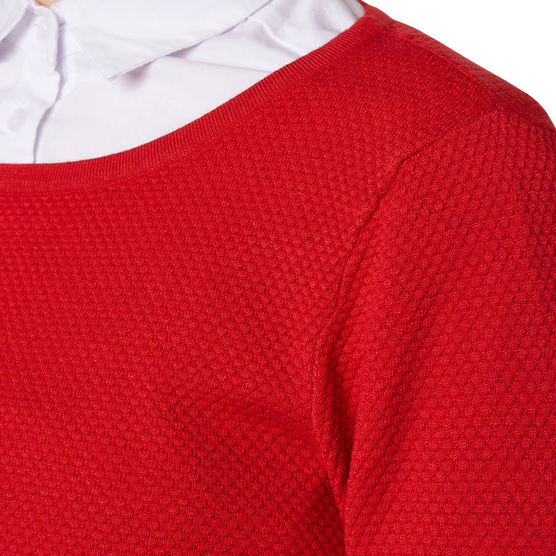 Pullover Sina mit 3/4-Arm in red