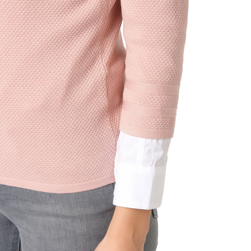 Pullover Sina mit 3/4-Arm in rose parfait