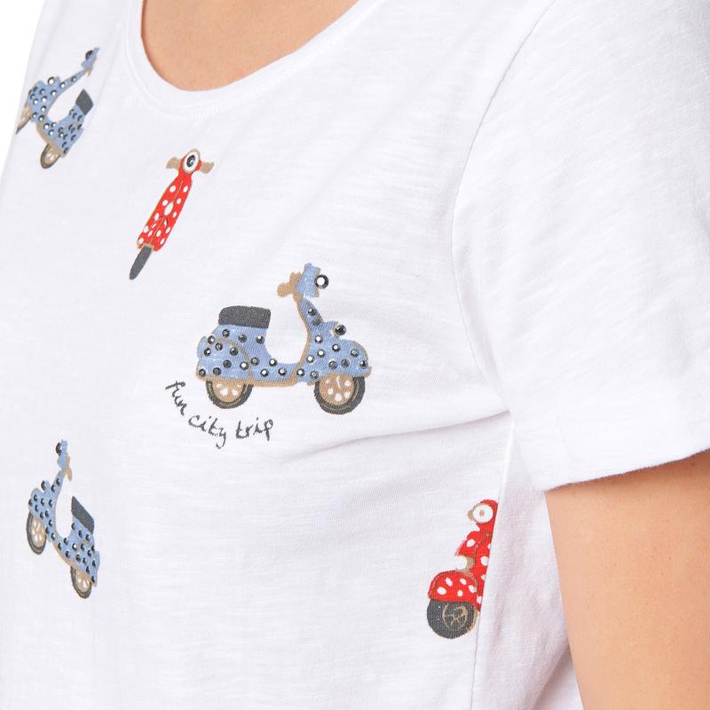 Jersey-Shirt mit kleinen Vespa-Prints in bright red