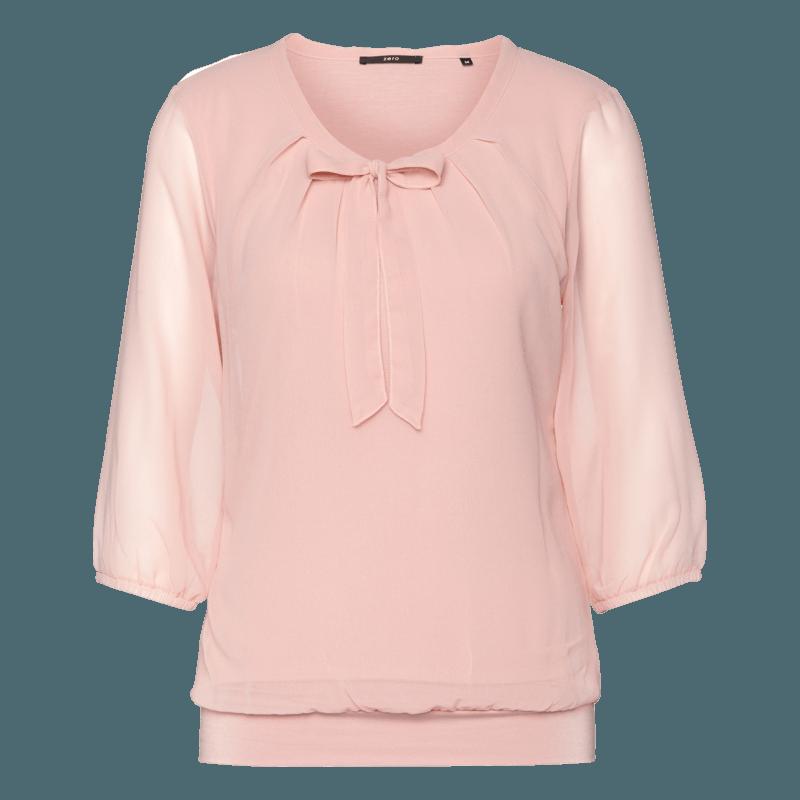Bluse Celeste mit Schluppenkragen in rose parfait