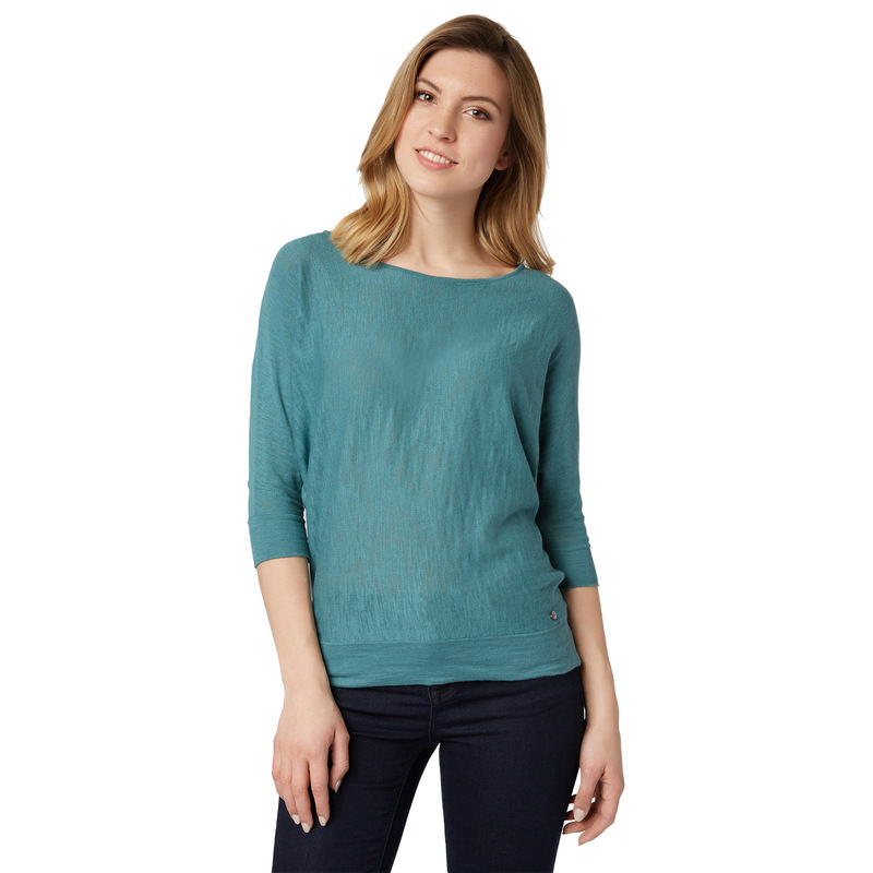 Pullover mit Fledermaus-Ärmeln in dusty aqua