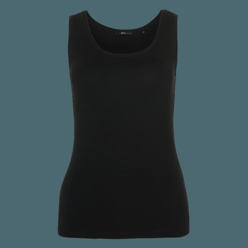 Top tara im unifarbenen Design in black