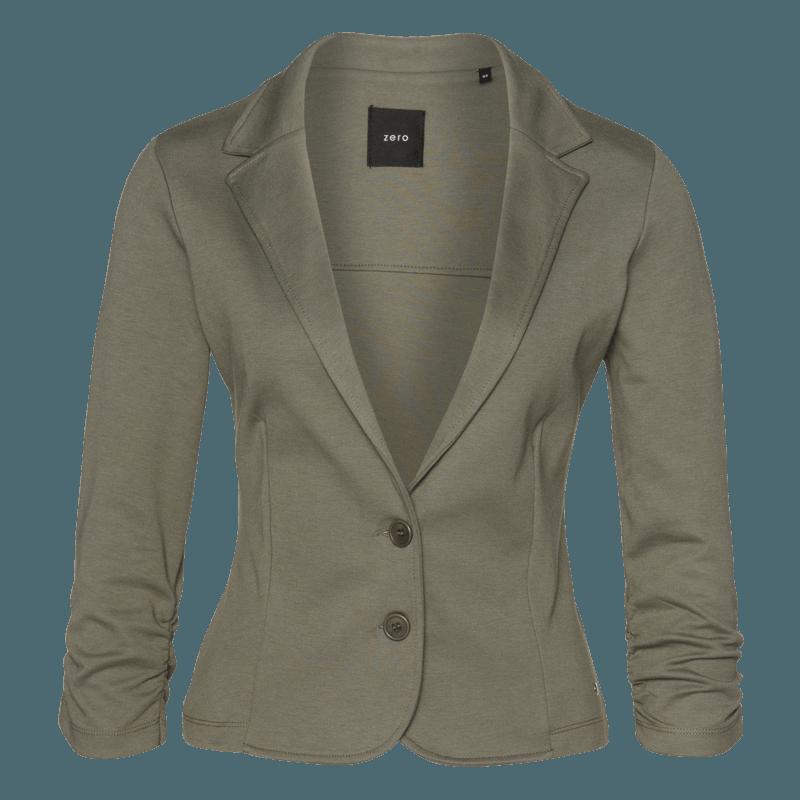 Jersey-Blazer Bella in sage olive
