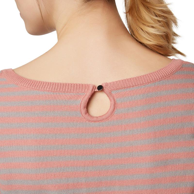 Pullover mit Streifenmuster in salmon rose