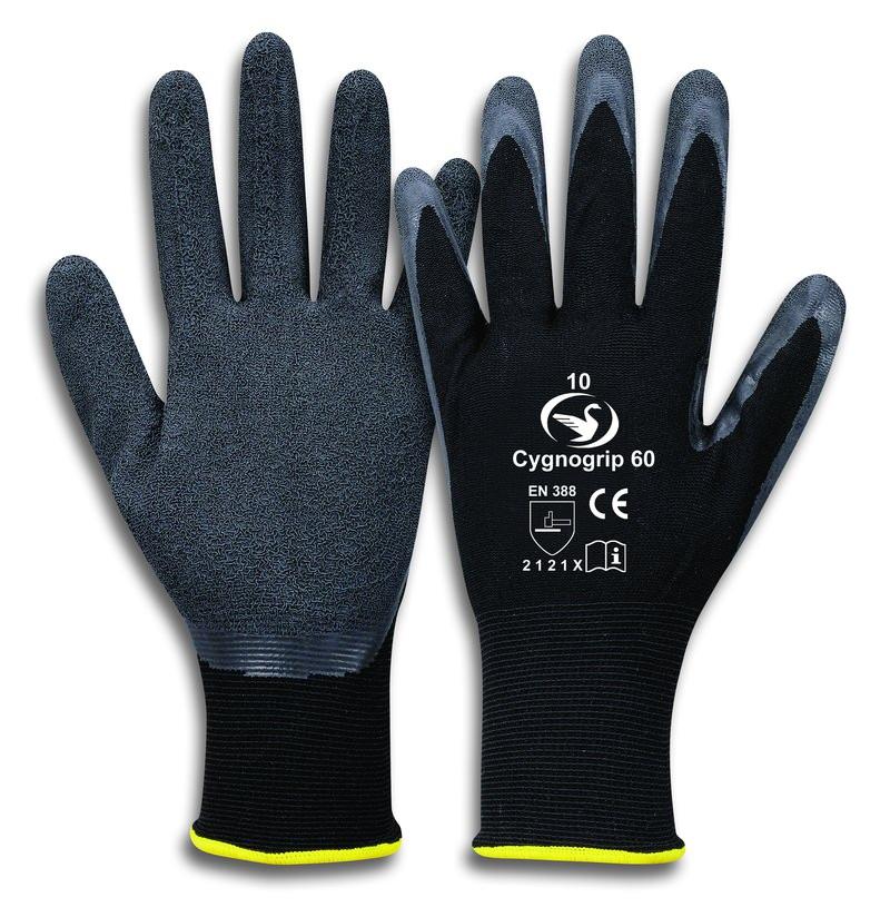 Feinstrick-Latex-Handschuh Cygnogrip 60