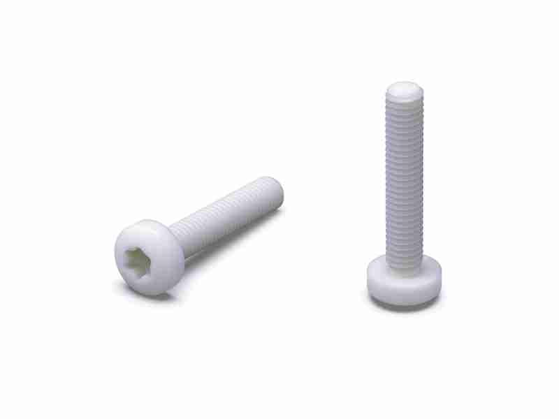 Linsenschrauben mit TX-Antrieb / Innensechsrund, Kopfform, Polyamid
