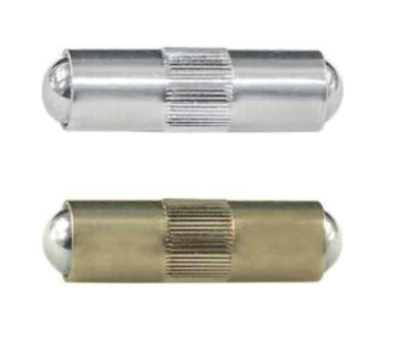 Doppelseitiges Druckstück, glatte Ausführung mit Rändel, Standard-Federkraft