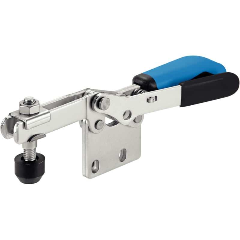 Waagrechtspanner, mit senkrechtem Fuß und Sicherheitsverriegelung, Stahl