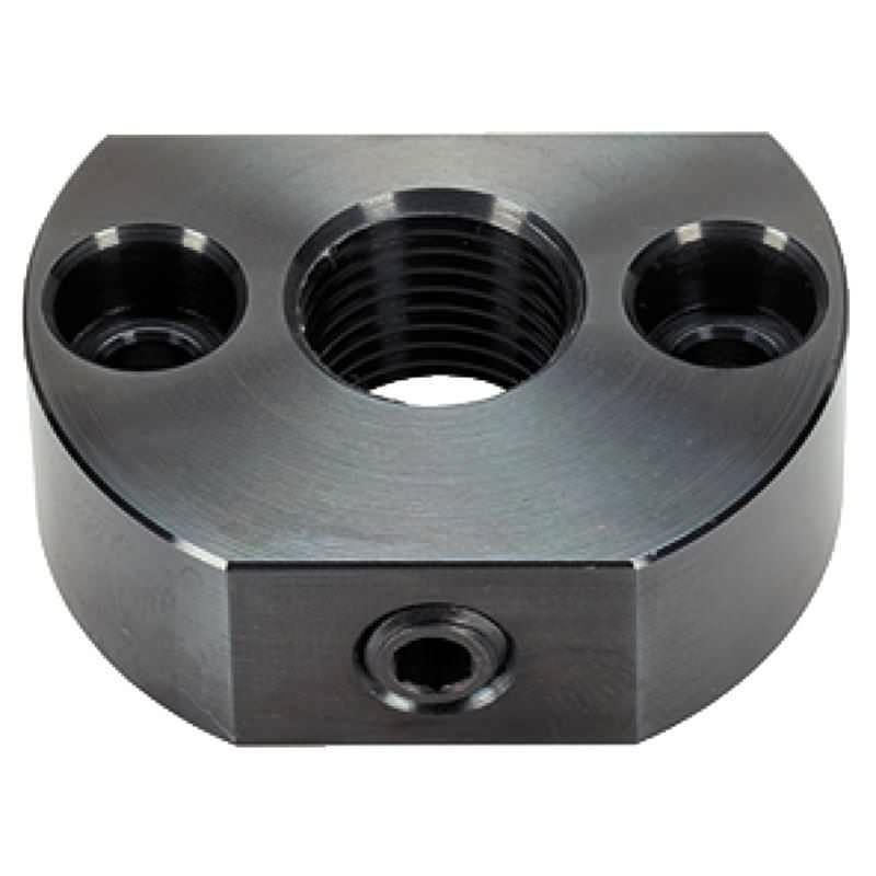 Haltestücke, für Rastriegel und Rastbolzen, Befestigungsbohrung parallel zum Rastriegel, Stahl