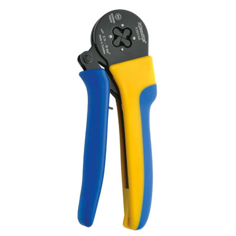 Selbsteinstellendes Presswerkzeug für Adreendhülsen und Zwillingsaderendhülsen 0,14-10mm²