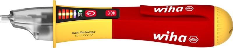 Wiha Spannungsprüfer Volt Detector, berührungslos, einpolig 12 – 1.000 V AC inkl. 2x AAA-Batterien